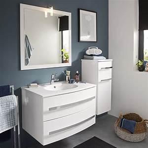 Meuble Salle De Bain Castorama : meuble de salle de bains blanc deliss meuble de salle de ~ Melissatoandfro.com Idées de Décoration