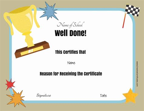 Free Award Certificates Templates To by Free School Certificates Awards
