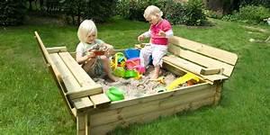 Bac à Sable Bois : bac sable en bois pour enfants sandy park avec banc ~ Premium-room.com Idées de Décoration