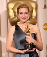 Kate Winslet winning Best Actress award for The Reader ...