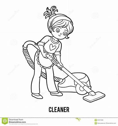 Coloring Cleaner Activity Children