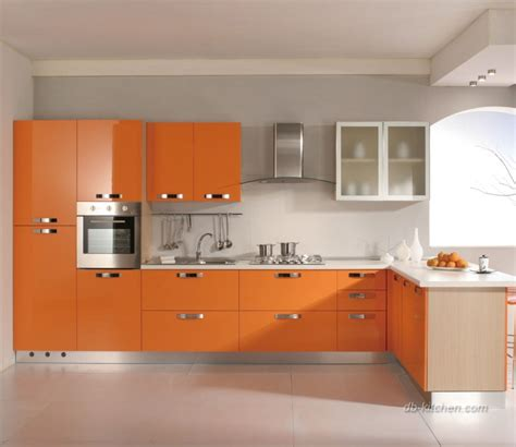 Acrylic Cabinet by It S Easy To Brighten Your Kitchen With Glossy Orange
