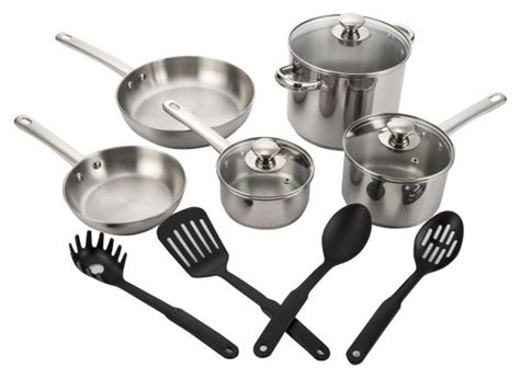 tools   trade stainless steel  piece cookware consumer reports