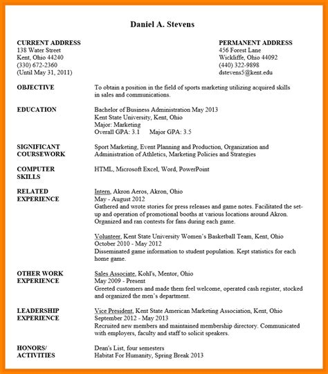 resume for students format undergraduate student resume sample uxhandy com