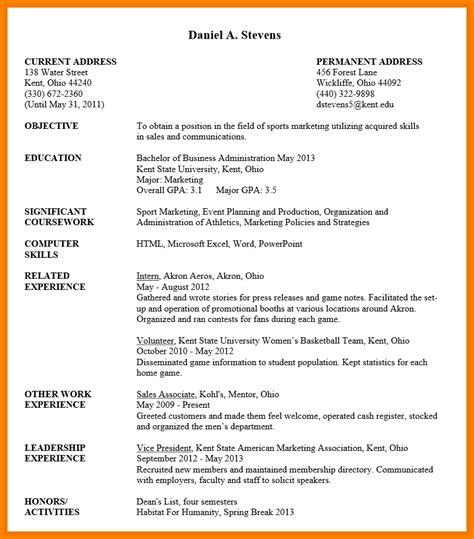 resume for students format undergraduate student resume sample uxhandy com