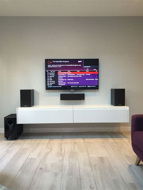 simple white wall mounted tv cabinet comprise white