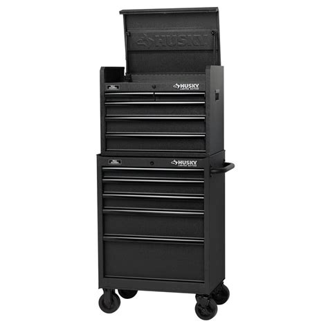husky side cabinet tool box husky 27 in 10 drawer tool chest and cabinet set