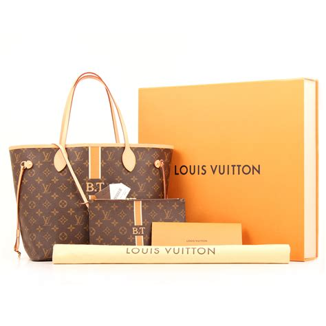 louis vuitton neverfull bag mm nm mon monogram perso  cbl