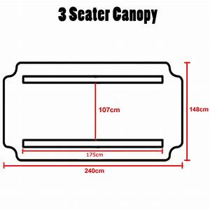 Replacement Canopy For Swing Seat Garden Hammock 2  U0026 3