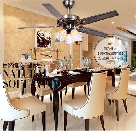 dining room ceiling fans with lights aliexpress com buy 48 inch iron leaf lights fan living