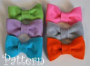 felt bow tie pattern tutorial with printable templates 3 With felt bow tie template