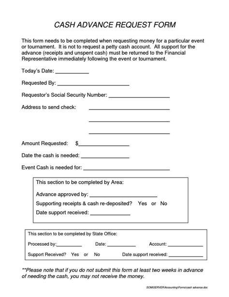 cash advance request form template sampletemplatess