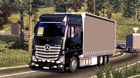 mercedes benz actros mp  interior tandem ets