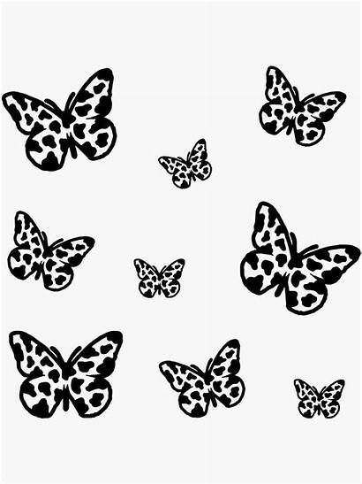 Cow Sticker Butterfly Pack Indie Redbubble Stickers