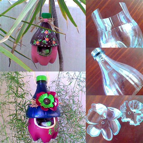 diy easy   plastic bottle bird house find fun art