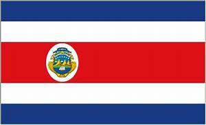 Rica flag vector
