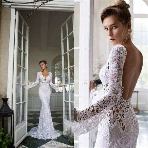 Lace Wedding Dress Patterns With Sleeves And Open Back