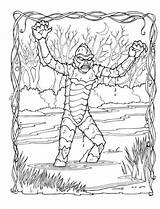 Coloring Pages Lagoon Monster Classic Creature Monsters Adult Books Illustration Colouring Collecting Gillman Savee Mark Horror Plaidstallions Printable Movies Colors sketch template