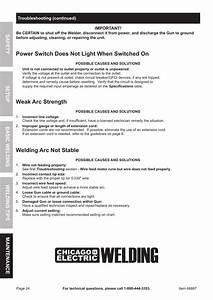 Power Switch Does Not Light When Switched On  Welding Arc