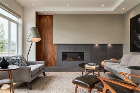 contemporary interior design  extensive walnut millwork