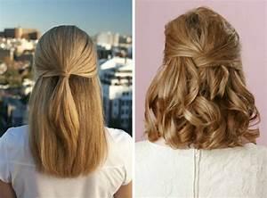 Coiffure Mariage Facile Cheveux Mi Long : comment faire une coiffure facile cheveux mi longs ~ Nature-et-papiers.com Idées de Décoration
