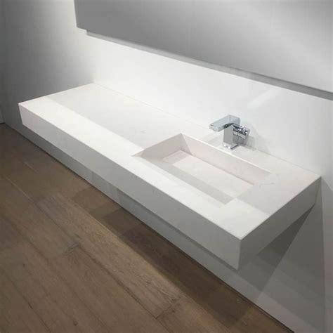 plan vasque salle de bain suspendu 141x46 cm excentr 233 calacatta