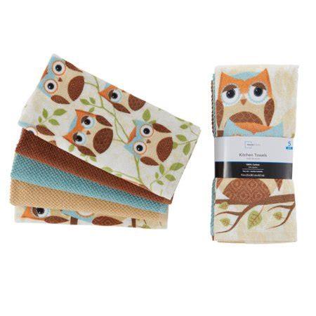 owl kitchen set mainstays 5 owl kitchen towel set walmart