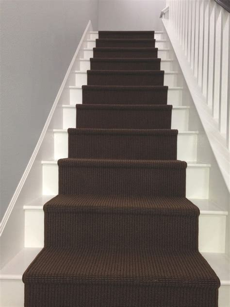 scrap ali ever after white painted laminate stairs with carpet runner