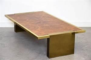 Table Basse Design Italien : importante table basse en loupe de noyer design italien ~ Melissatoandfro.com Idées de Décoration