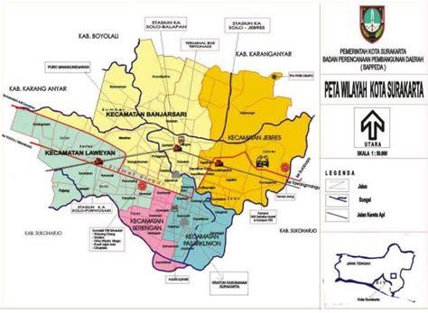 gambar peta kota surakarta terbaru gambar peta indonesia
