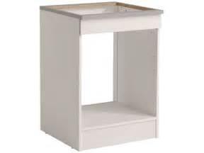meuble four cuisine meuble bas 60 cm four plaque spoon coloris blanc vente