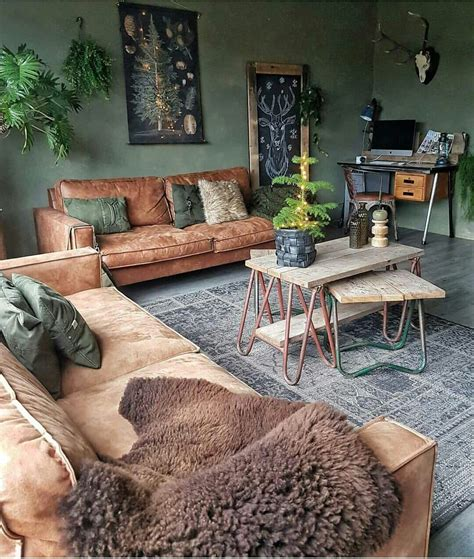 beautiful warm colours tan sofas green walls rooms