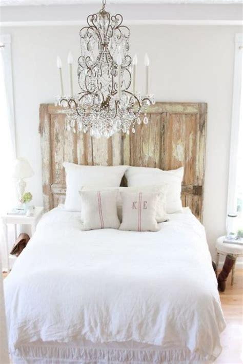 White Rustic Headboard by Door Headboards Rustic Doors And White Bedrooms On