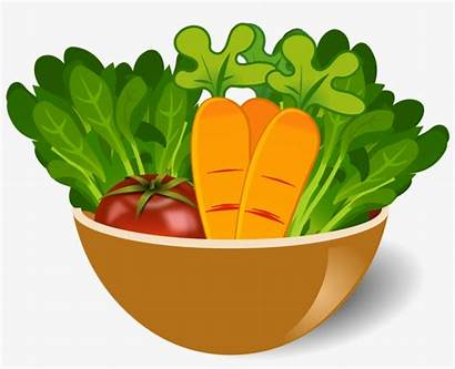 Vegetable Clip Bowl Clipart Dish Icons Library