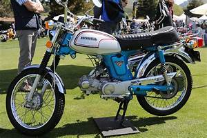 Oldmotodude  1973 Honda Cl70 On Display At The 2019 Quail