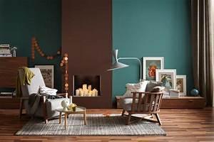 Die Wandfarben Petrol und Braun in einem Raum Bild 6 [SCHÖNER WOHNEN]