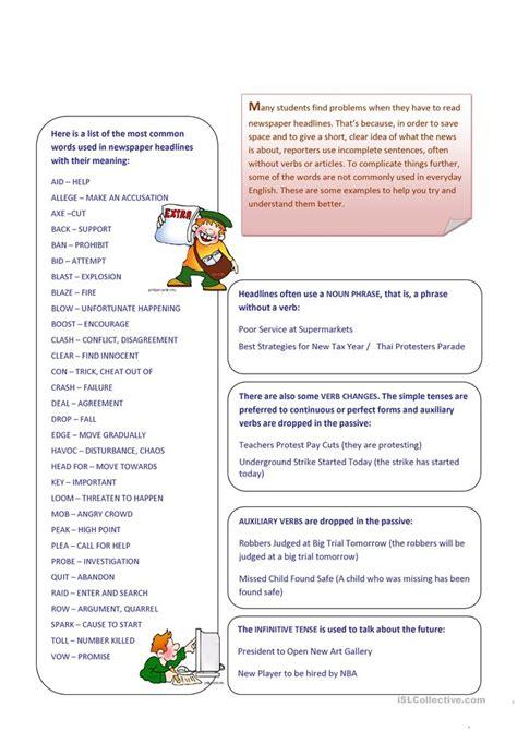 21526 exle of an resume newspaper homework activities