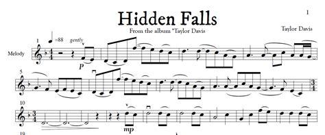hidden falls violin sheet   play  piano