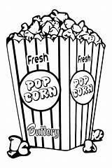 Popcorn Coloring Bucket Clipart Box Tlc Pages Template Pop Sheets Saturday Snack Corn Colored Bowl Drawing Fun Circus Create Createwithtlc sketch template