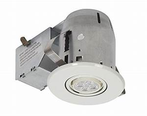 Globe electric led ic rated swivel spotlight recessed lighting kit dimmable downlight