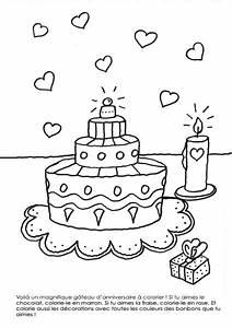 Dessin Gateau D Anniversaire : coloriage imprimer g teau d 39 anniversaire ~ Louise-bijoux.com Idées de Décoration