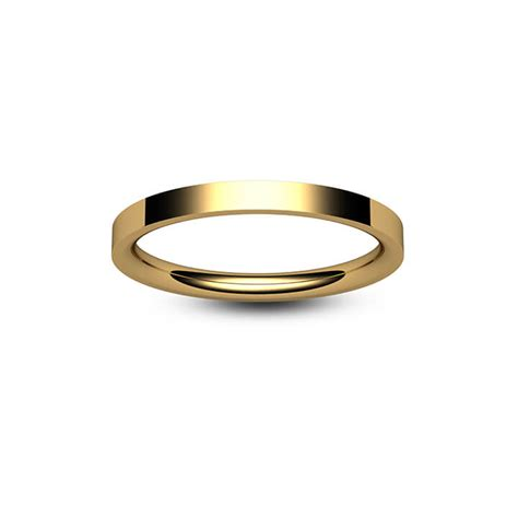 9ct yellow gold flat court wedding ring bijoux jewels