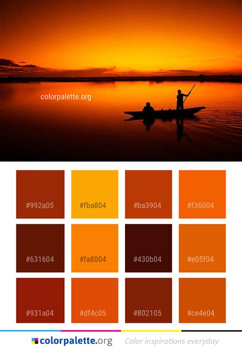 reflection nature sunset color palette colorpaletteorg
