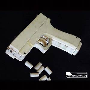 Blowback Rubber Band Gun With Ejection Function U30fbglock Type