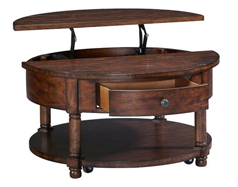 coffee tables that raise up broyhill attic heirlooms lift top coffee table in