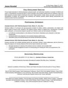 resume objective exles for daycare worker resume