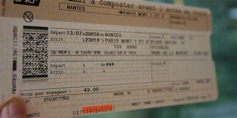 Modification Billet Prime Sncf by Revente Billet Idtgv