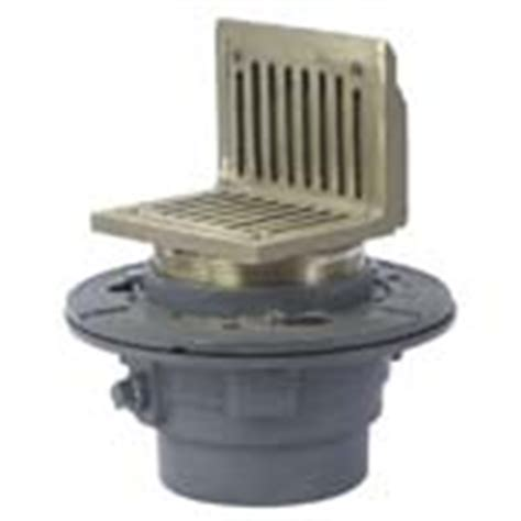 fd 100 as floor drain with angle strainer adjustable floor drains drainage products watts