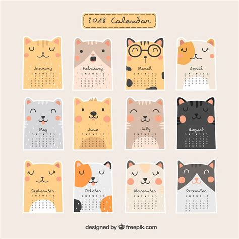 printable cat stickers calender im