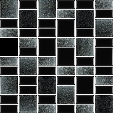 Fusion Black Glass Mosaic Tiles  Rocky Point Tile  Glass